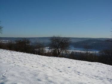 View of the ardennes under the snow